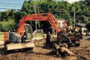 解建物体と植木の抜根