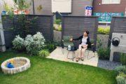 庭とキッチン
