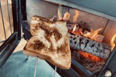 薪ストーブでパンを焼いてみました